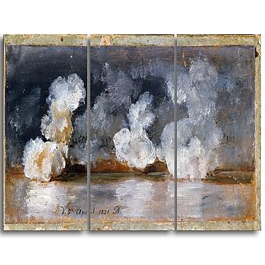 Designart – JC Dahl, fumée de canon, imprimé sur toile (PT4580-3P)