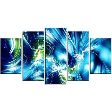 Designart – Impression contemporaine sur toile, éclat vert et bleu (PT3062-373)