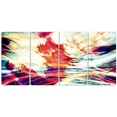 Designart Winds of the World 4-Panel Abstract Canvas Art Print, (PT3030-271)