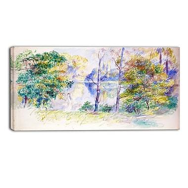 Designart Auguste Renoir, View of a Park Master Piece Landscape Artwork, (PT4164-32-16)