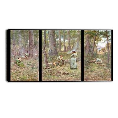 Designart – Imprimé sur toile, paysage, Le pionnier, Frederick McCubbin