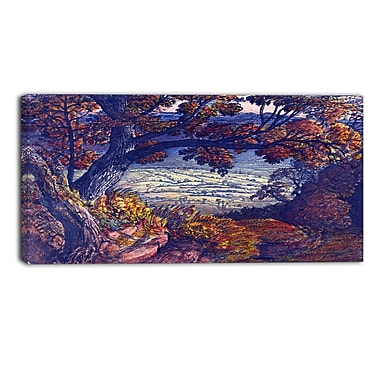 Designart Samuel Palmer, The Weald of Kent Canvas Art Print, (PT4915-32-16)