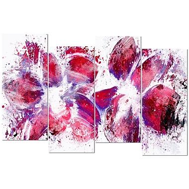 Designart – Art imprimé sur toile, tulipes, art abstrait (PT3404-271)