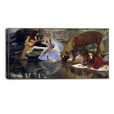 Designart Edgar Degas, Portrait of Mlle Fiocre in the Ballet Canvas Art Print, (PT4311-32-16)