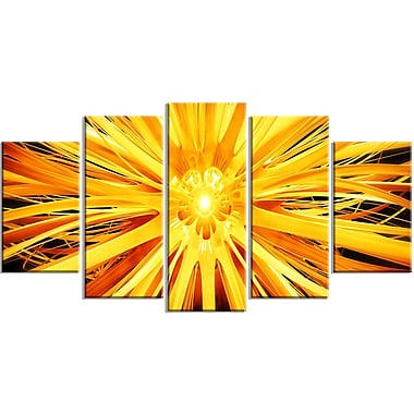 Designart Sunshiney Day 5-Panel Modern Canvas Art Print, (PT3082-373)