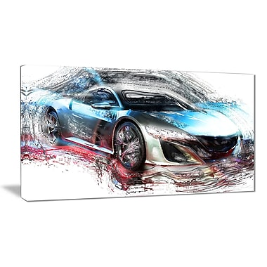 Designart Exotic SuperCar Small Gallery Wrapped Canvas, (PT2624-32x16)