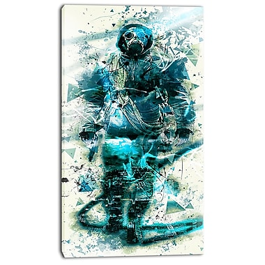 Designart Hazardous March Street Art Canvas Artwork, (PT3614-16-32)