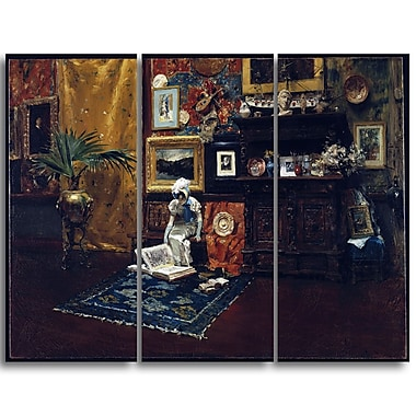 Designart William Merritt, Studio Interior Canvas Art Print, (PT5014-3P)