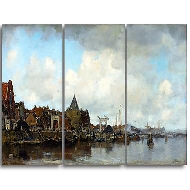 Designart – Jacob Maris, les Schreierstoren, mer et rivage, toile d'illustration (PT4522-3P)
