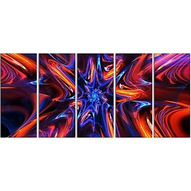 Designart Starry Trance 5-Panel Modern Canvas Art Print, (PT3033-401)