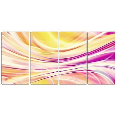 Designart Candy Stripes 4-Panel Canvas Art Print, (PT3004-271)