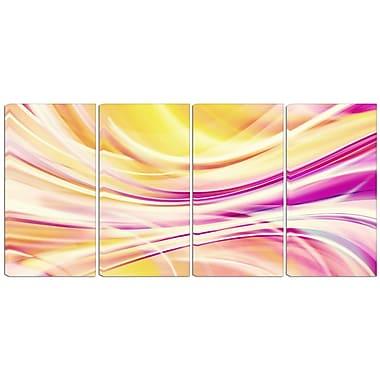 Designart – Imprimé sur toile, rubans couleur bonbon, 4 panneaux (PT3004-271)