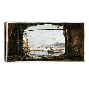 Designart JC Dahl, View from a Grotto Near Posillipo Canvas Art Print, (PT4575-40-20)