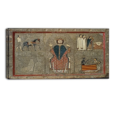 Designart Iohannes, Altar Frontal from Gia Religious Canvas Art Prints, (PT4510-32-16)