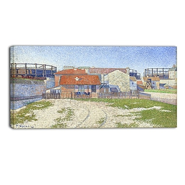 Designart Paul Sandby, Gasometers at Clicy Large Sea & Shore Canvas Art, (PT4815-40-20)