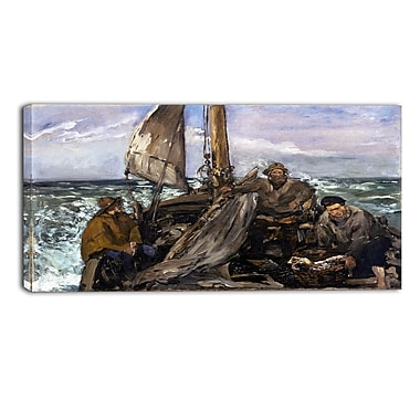 Designart Edouard Manet, The Toilers of the Sea Canvas Art Print, (PT4319-32-16)