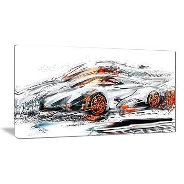 Designart Modern Super Car Canvas, (PT2632-32-16)
