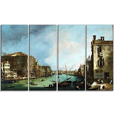 Design Art Canaletto, The Grand Canal in VeniceCanvas Art Print