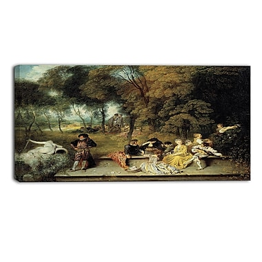 Designart Antoine Watteau, Pleasures of Love Master Piece Landscape Artwork, (PT4142-40-20)