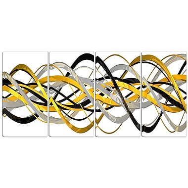 Designart HelixExpression 4-Panel Abstract Canvas Art Print, (PT3015-271)