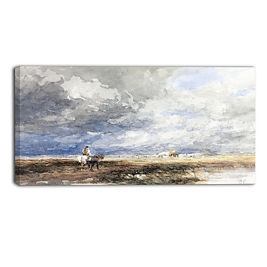 Designart – Imprimé de paysage sur toile, Going to the Hayfield, David Cox (PT4286-32-16)