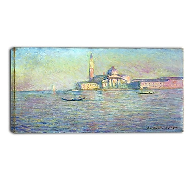 Designart Claude Monet, Church of San Giorgio Maggiore Canvas Art Print, (PT4234-32-16)