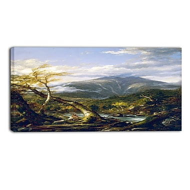 Designart Thomas Cole, Indian Pass Canvas Art Print, (PT4941-32-16)