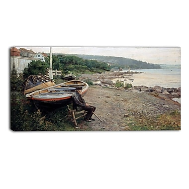 Designart Hans Heyerdahl, View from Asgardstrand Canvas Art Print, (PT4471-32-16)