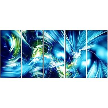 Designart – Impression contemporaine sur toile, éclat vert et bleu (PT3062-401)