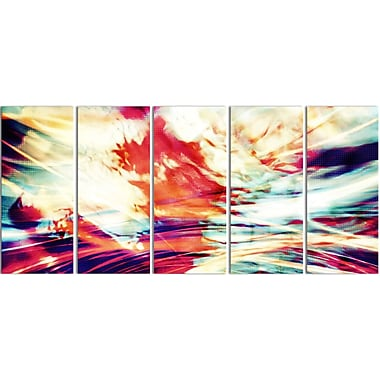 Designart Winds of the World 5-Panel Abstract Canvas Art Print, (PT3030-401)
