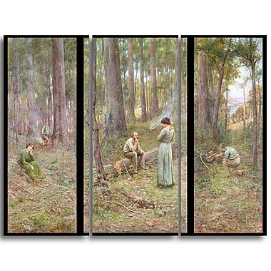 Designart Frederick McCubbin, The Pioneer Landscape Canvas Art Print, (PT4394-3P)