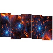 Design Art Fire & Ice 5-Panel Canvas Art Print