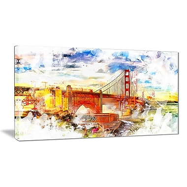 Designart – San Francisco coloré, illustration sur toile (PT2814-24X40)
