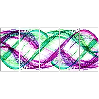Designart Green and Purple Tango Contemporary Canvas Art, (PT3053-401)