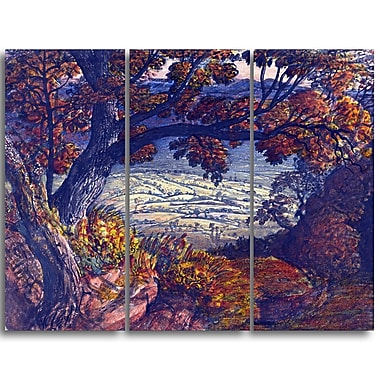 Designart – Toile imprimée de Samuel Palmer « The Weald of Kent » (PT4915-3P)