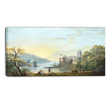 Designart Paul Sandby, Dartmouth Castle Sea & Shore Canvas Artwork, (PT4807-32-16)
