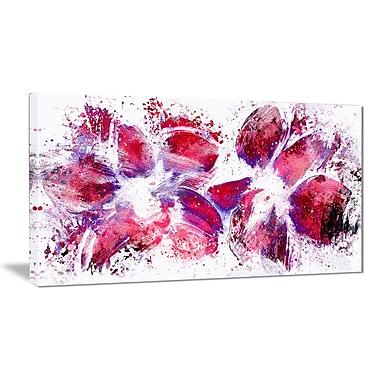 Designart – Art imprimé sur toile, tulipes, art abstrait (PT3404-32-16)