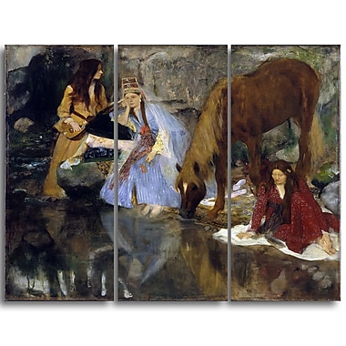 Designart Edgar Degas, Portrait of Mlle Fiocre in the Ballet Canvas Art Print, (PT4311-3P)