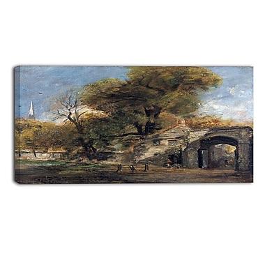 Designart John Constable,Harnham Gate Salisbury Canvas Art Print, (PT4635-40-20)