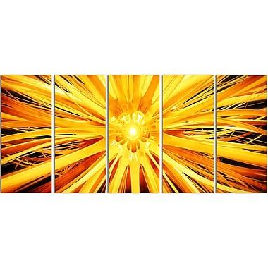 Designart Sunshiney Day 5-Panel Modern Canvas Art Print, (PT3082-401)