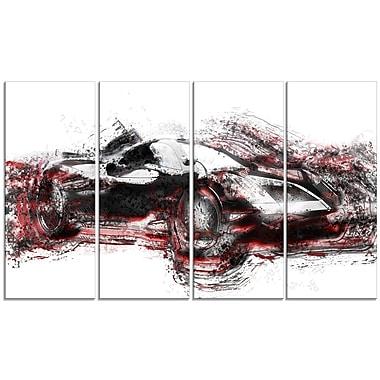 Designart – Voiture de course moderne, toile de style galerie