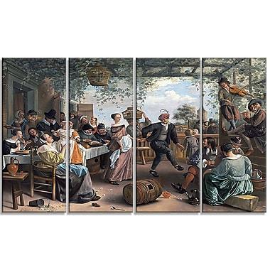 Designart – Jan Steen, Le couple de danse, imprimé sur toile (PT4554-271)