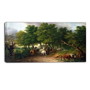 Designart – Toile imprimée de Thomas Gainsborough « Road from Market » (PT4949-32-16)