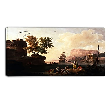 Design Art – Pierre-Jacques Volaire, Mediterranean Harbor Scene, impression sur toile