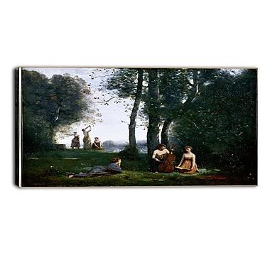 Designart Jean-Baptiste-Camille Corot, Le Concert Champetre Canvas Art Print, (PT4586-32-16)