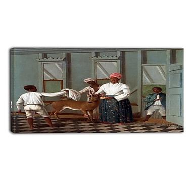 Designart – Serviteurs lavant un chevreuil par Agostino Brunias, imprimé sur toile (PT4112-32-16)