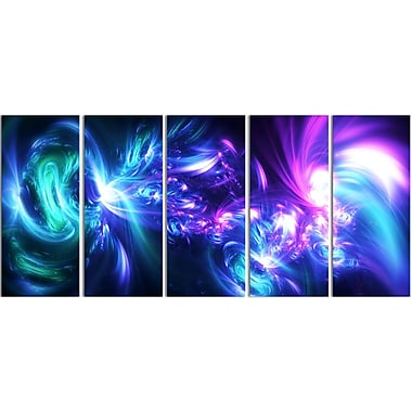 Designart Bursts of Light Contemporary Canvas Art, (PT3058-401)