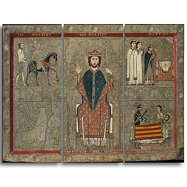 Designart Iohannes, Altar Frontal from Gia Religious Canvas Art Prints, (PT4510-3P)