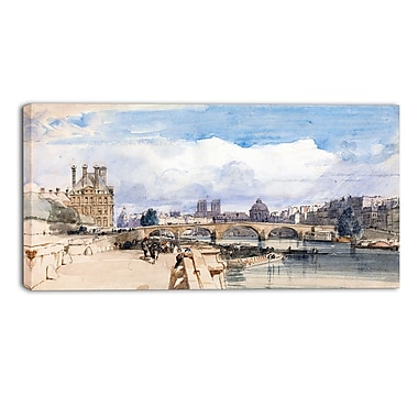 Designart Thomas Shotter Boys, Le Pont Royal Canvas Art Print, (PT4970-40-20)