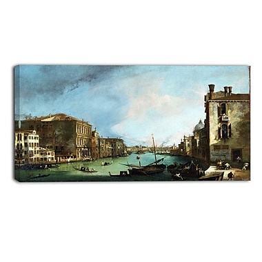Designart Canaletto, The Grand Canal in VeniceCanvas Art Print, (PT4204-32-16)